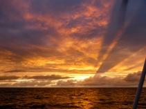 Magnifique coucher de soleil en arrivant à l'ile de Ré